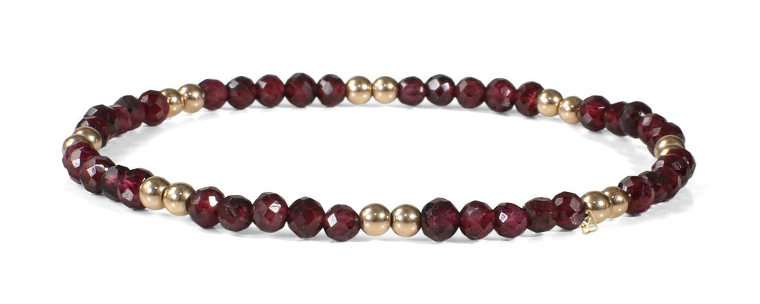Garnet and 14kt Gold bracelets