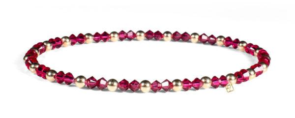 Ruby Swarovski Crystals and 14kt Gold