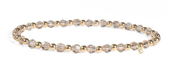Smoked Colorado Topaz Swarovski Crystals and 14kt Gold Bracelet