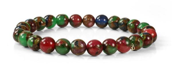 Jewel Tone Opal with Bronzite Marbled Quartz Bracelet
