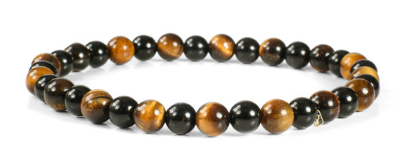 Black Onyx and Tiger Eye Gemstones Bracelet
