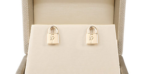 Signature Lock Post Earrings