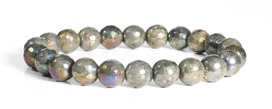 Labradorite Faceted with AB Luster Bracelet