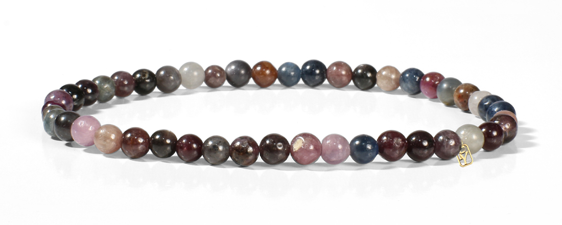 Multi Stone Mixture (Ruby and Sapphire) Bracelet