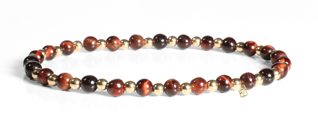 Red Tiger's Eye and 14kt Gold