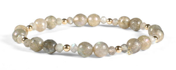Labradorite and 14kt Gold Bracelet