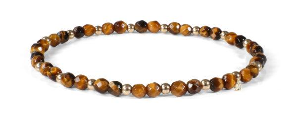 Tiger Eye and 14kt Gold bracelet