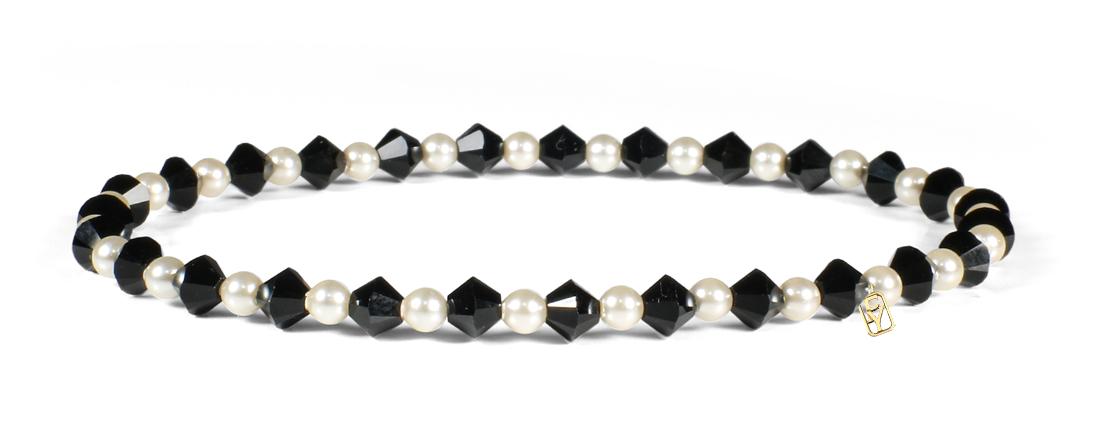 Rose Swarovski Crystals and Pearl Bracelet