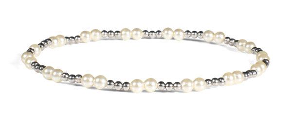 Swarovski Pearls and 14kt White Gold Bracelet