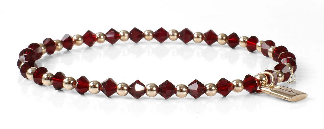 Signature FY Lock Collection with Garnet Crystals and 14kt Gold.