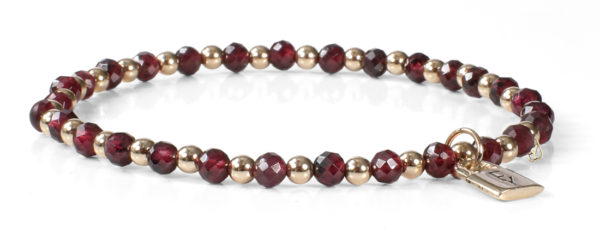 Signature FY Lock Collection with Garnet Gemstones and 14kt Gold.
