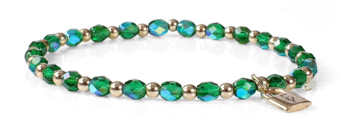 Signature FY Lock Collection with Emerald and 14kt Gold