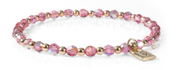 Signature FY Lock Collection with Rose Crystals and 14kt gold
