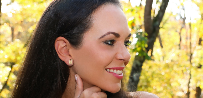 14kt gold earrings and 14kt gold necklaces