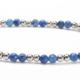 Lapis Gemstones and 14kt White Gold Bracelet