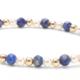 Lapis Gemstone, Pearl and 14kt Gold Bracelet