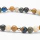 Cobalt Opal with Bronzite, Wild Jasper, African Opal Gemstones and 14kt Gold Bracelet
