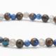 Cobalt Opal Bronzite, Lapis and Labradorite Gemstone bracelet