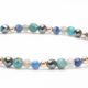 Lapis, Pacific Blue Apatite, Labradorite and Hematite Gemstones and 14kt Gold
