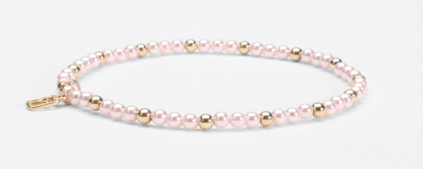 Pink Swarovski Pearls and 14kt Gold (Mother to Be Bracelet)